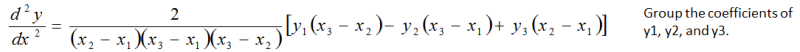 Equation Group the Coefficients